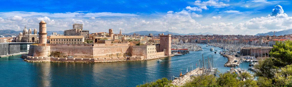 Saint Jean Castle and Cathedral de la Major  in Marseille
