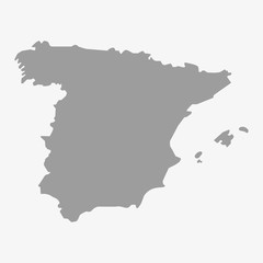 Map of Spain in gray on a white background