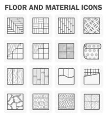 Obraz Floor icons sets. - fototapety do salonu