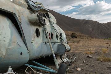 sowjet helikopter im pandschschir tal