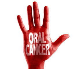 Oral Cancer written on hand isolated on white background
