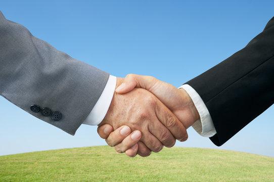 Businessmen shaking hands.