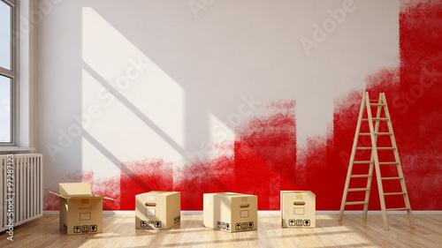 wohnung renovieren beim umzug stockfotos und lizenzfreie bilder auf bild 97287123. Black Bedroom Furniture Sets. Home Design Ideas