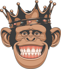 Funny monkey crown
