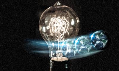 Lightbulb Planet Earth