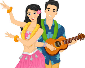 Couple Hawaiian Performance