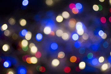 Abstract christmas light bokeh on for background