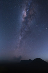 The milky way above mountain