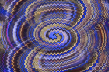 Zigzag abstract light effect