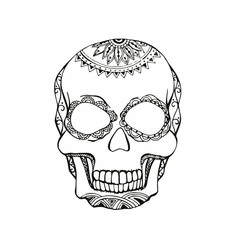 Vector of Abstract Skull in zentangle style
