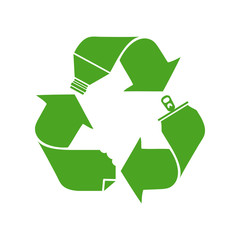 Recycling symbol, concept