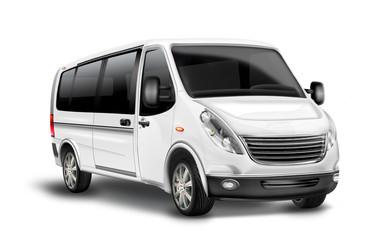 Kleinbus, Kastenwagen,Taxi, freigestellt