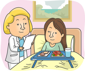 Girl Nutritionist Patient Hospital