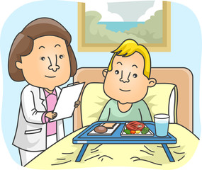 Girl Nutritionist Patient Kid Boy Hospital