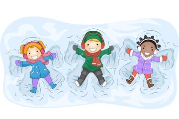 Kids Snow Angels