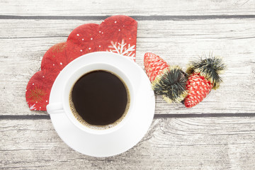 A cup of coffee at Christmas