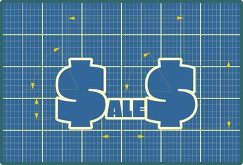 Sales draft design sticker