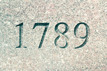 Engraved Historical Year 1789