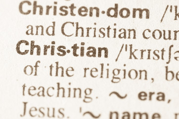 Dictionary definition of word Christian