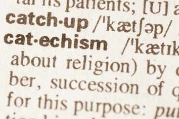Dictionary definition of word catechism