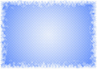 Simple retro pastel blue halftone dot design background with whi