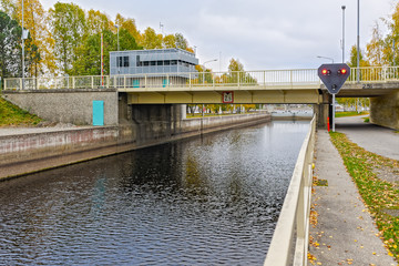 Joensuu canal shipping lock