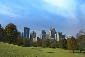 Fototapeta Midtown Atlanta, Georgia Skyline in Piedmont Park