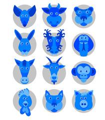 Chinese zodiac animal icons