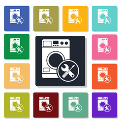 Repair of household appliances icon
