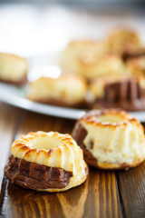 curd sweet chocolate muffins