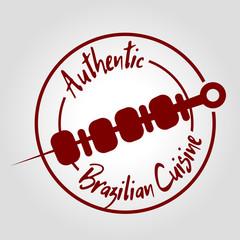 Authentic brazilian cuisine icon
