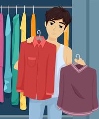 Teen Guy Wardrobe Choose Clothes