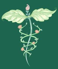 Alternative Medicine Symbol Sketch