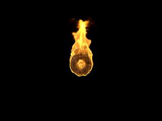 Feuer Zeichen Grad auf schwarzem Hintergrund