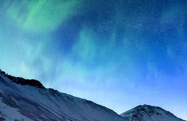Northern light of Iceland