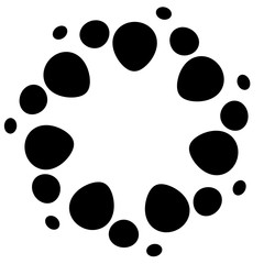 Abstract rounded shape on white. Editable vector art.