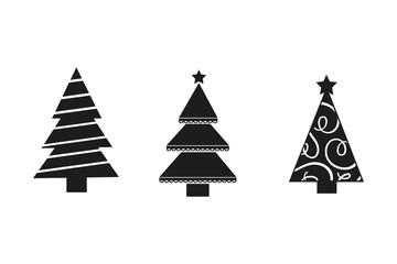 Weihnachtsbäume Varianten abstrakt Illustration