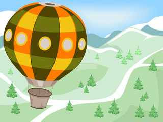 Hot Air Balloon Mountains