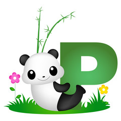 Animal alphabet letter P