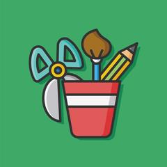 stationery vector pencil case icon