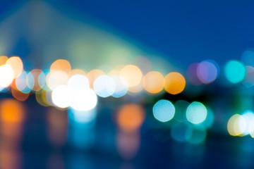 City night light blur bokeh , defocused background
