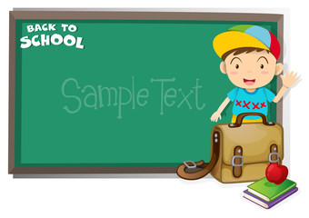 Border design with back to school theme
