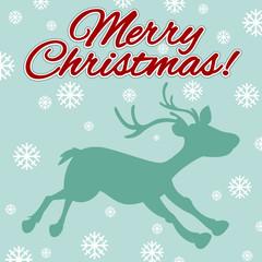 Christmas theme with reindeer and snowflakes