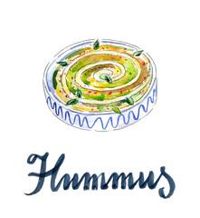 Fresh hummus dip