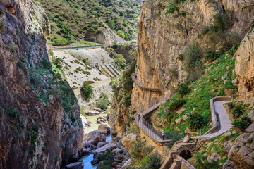 Caminito del Rey canyon and trail