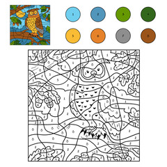 Color by number (owl)