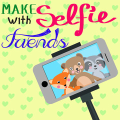 Cute animals friends selfie