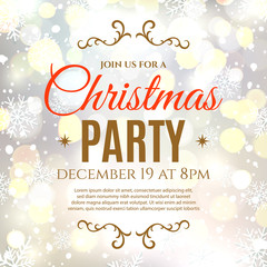 Christmas party poster template.