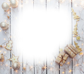 Christmas background frame