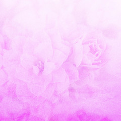 Grunge paper texture or background with flower pattern.